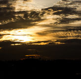 Silhouette at Sunset. Stock Photography