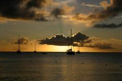 Silhouette Sunset Stock Image