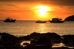 sunset seascape scene at Koh Lipe Stock Photo