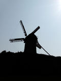 silhouette sunset windmill στοκ φωτογραφίες