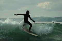 Silhouette of Surfer royalty free stock photos