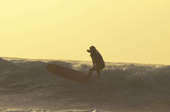 Silhouette Surfer Royalty Free Stock Photos