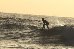 Silhouette Surfer Royalty Free Stock Images
