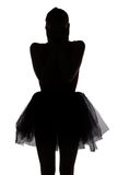 Silhouette of surprised dancer girl Stock Image