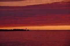 Silhouette surrouned by splendour Stock Photos