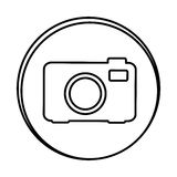 Silhouette symbol camera icon. Illustraction design Royalty Free Stock Photography
