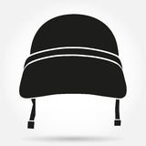 Silhouette symbol of Military helmet Royalty Free Stock Photo