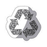 silhouette symbol reuse, reduce and recycle icon Royalty Free Stock Photo