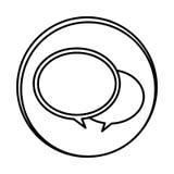 Silhouette symbol round chat bubbles icon. Illustraction design Stock Photo