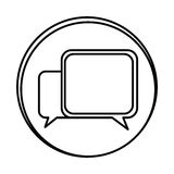 Silhouette symbol square chat bubbles icon. Illustraction design Royalty Free Stock Photography