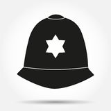 Silhouette symbol Traditional helmet of Stock Image