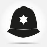 Silhouette symbol Traditional helmet of Stock Image