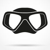 Silhouette symbol of Underwater diving scuba mask Stock Photography