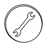 silhouette symbol wrench icon Royalty Free Stock Image