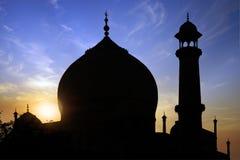 Silhouette  of Taj Mahal. Stock Photos