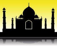 Silhouette of the Taj Mahal Stock Photography