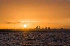 Silhouette of Tallinn city Stock Photos