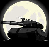 Silhouette of tank Royalty Free Stock Photo