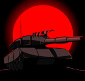 Silhouette of tank Royalty Free Stock Images