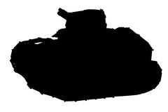 Silhouette of tank stock image
