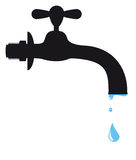 Silhouette of a tap Royalty Free Stock Photos