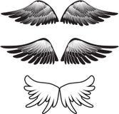 silhouette tatuaży skrzydła Zdjęcia Stock
