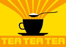 Silhouette of teacup Royalty Free Stock Image