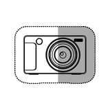 Silhouette technologic digital camera icon. Illustration design Royalty Free Stock Photos