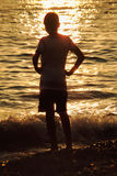 Silhouette teenager Stock Photography