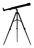 Silhouette of Telescope Royalty Free Stock Photography