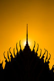 Silhouette of temple Stock Photo