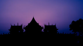 Silhouette of temple Stock Images