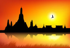 A silhouette of Temple royalty free stock photography