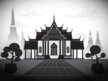 Silhouette temple vector Royalty Free Stock Image
