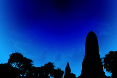 Silhouette temples illustrate media. Photo Silhouette temples illustrate media. Can add There are basically empty and add more images Stock Image