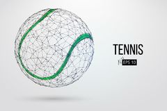 Silhouette of a tennis ball from particles. Stock Image