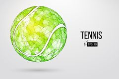 Silhouette of a tennis ball from particles. Stock Photos
