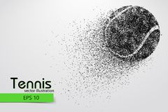 Silhouette of a tennis ball from particles. Stock Photography
