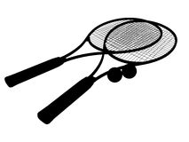 Silhouette of Tennis racket's Stock Image