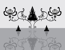 Silhouette of Thai Buddha Royalty Free Stock Image