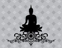 Silhouette of Thai Buddha Stock Images