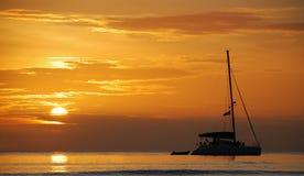 silhouette thailand för fartygölipe Arkivfoton