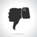 Silhouette thumb down symbol of dislike. Vector illustration. Silhouette of thumb down symbol of dislike. Patterns elements for greeting cards, wallpapers Stock Images