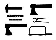 Silhouette of tools Stock Photo