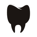 Silhouette of tooth. Icon over white background. vector illusstration Royalty Free Stock Photography