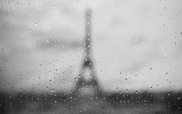 Silhouette of Tour Eiffel Royalty Free Stock Photography