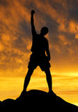 Silhouette of tourist Royalty Free Stock Image