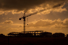 Constraction Site with Tower Crane Royalty Free Stock Image