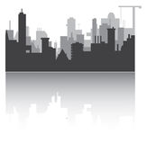 Silhouette of town Stock Images