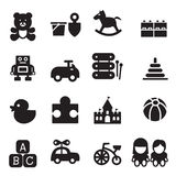 Silhouette Toy icons. Vector Illustration Graphic Design royalty free illustration